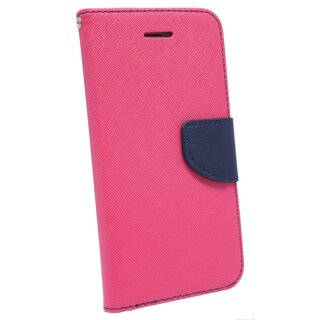 Book-Style Handyhülle Buch Form Tasche Case Cover für Iphone 7 PLUS in Pink-Blau
