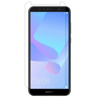3x Panzer Schutz Glas 9H Tempered Glass Display Schutz Folie Display Glas Screen Protector für HUAWEI Y6 Prime 2018